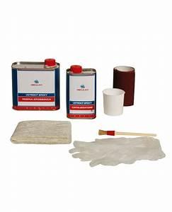 Resine Epoxy Bateau : vetrokit poxy compos de r sine poxy 500r 250d g bac papier de verre gants fibre de verre ~ Melissatoandfro.com Idées de Décoration