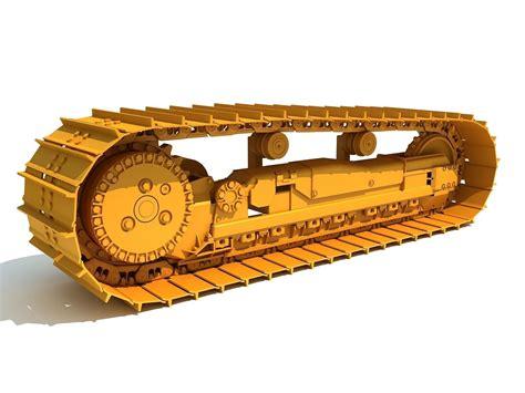 excavator track  cgtrader
