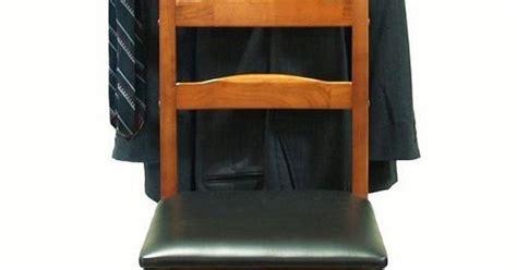 mens wooden standing valet butler dressing chair hanger