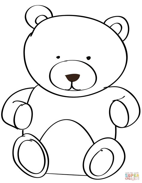 teddy bear coloring page  printable coloring pages