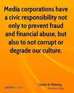 Quotes On Civic... Civic Responsibility Quotes