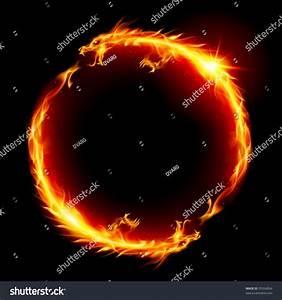 Ring Fire Dragon Illustration On White Stock Vector ...
