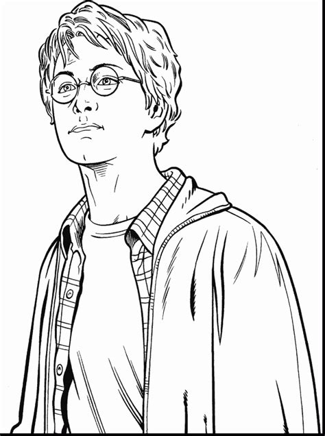Cool Harry Potter Coloring Page Free Printable Coloring