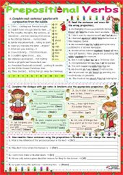 English Worksheets Common Verbs Followed By Prepositions