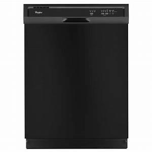 Shop Whirlpool 55-Decibel Built-In Dishwasher (Black