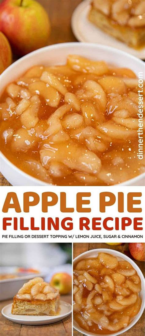 Fun to make and sure to please, but should be served warm! Homemade Apple Pie Filling made with cinnamon, sugar and ...