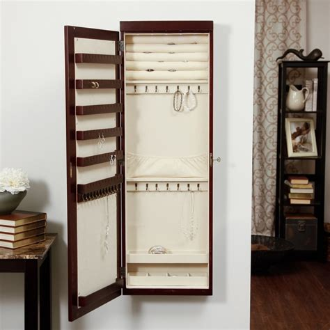 wall mounted lighted jewelry armoire woodworking projects plans