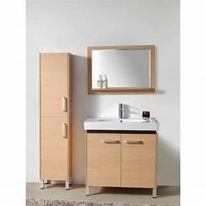 Meuble Vasque Sur Pied : le meuble colonne de salle de bain ~ Teatrodelosmanantiales.com Idées de Décoration