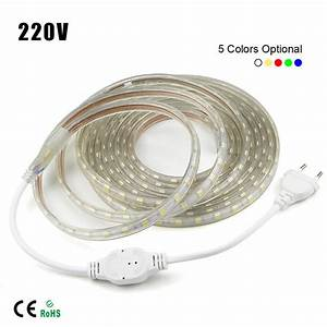 1 20m 5050 led flexible tape rope strip light xmas outdoor With outdoor led strip lights waterproof ebay