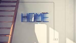 unique letter shelves home designing With letter bookshelf