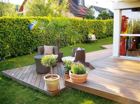 cuisine ambiance déco jardin terrasse bois