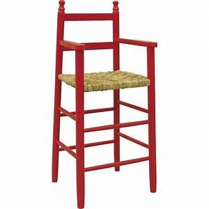 Chaise Bois Enfant : chaise haute enfant bois rouge ~ Teatrodelosmanantiales.com Idées de Décoration