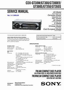 Sony Model Cdx Gt300 Wiring Diagram
