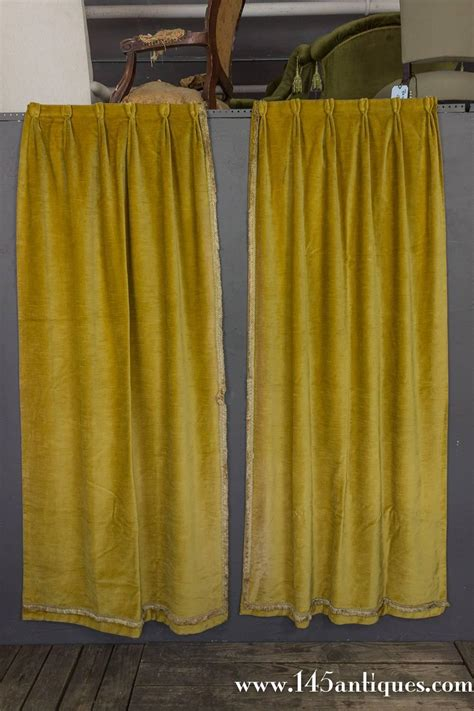 pair of rich gold velvet drapes for sale at 1stdibs