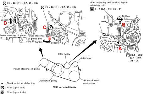 small engine service manuals 2004 infiniti i head up display 2000 2004 infiniti i30 i35 drive belts replacement procedure infinitihelp com