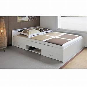 Lit 140 Avec Tiroirs Rangement : lit 140 avec tiroirs rangement design en image ~ Teatrodelosmanantiales.com Idées de Décoration