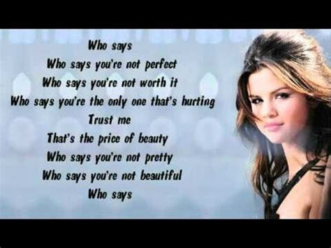 Who says ~Selena Gomez | Favorite lyrics, Music lyrics, Lyrics