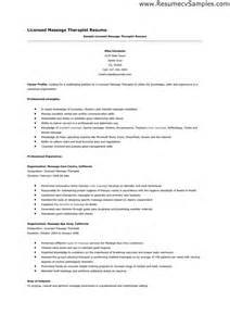 Spa Therapist Resume Templates by Therapy Resume The Best Letter Sle
