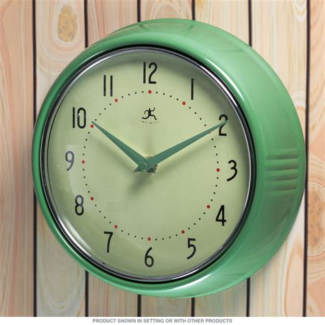 green kitchen clock green fifties style kitchen wall clock infinity wall 1396