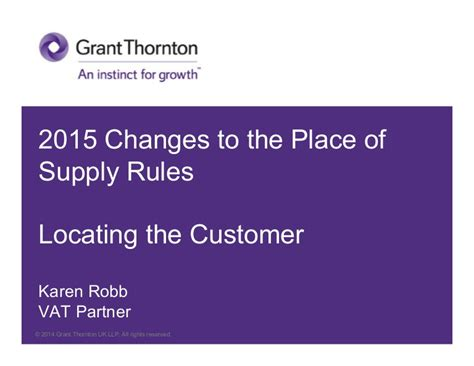Eu Vat 2015 Changes To The Place Of Supply Rules  Locating The Cust…
