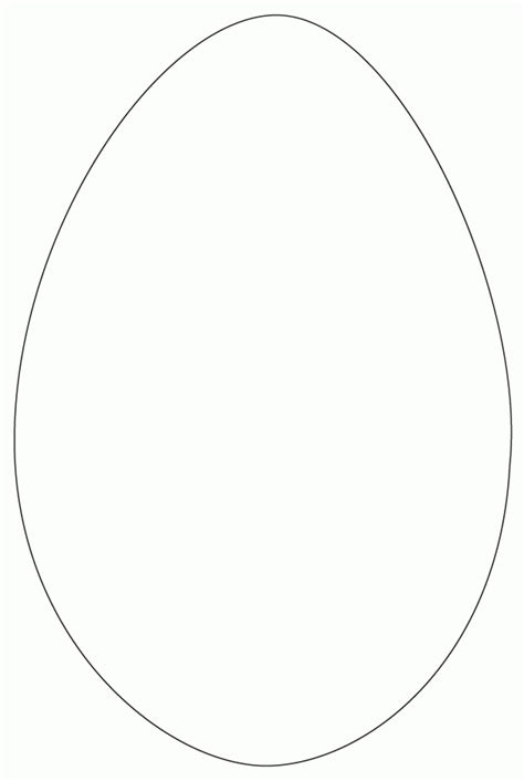 egg shape template coloring home