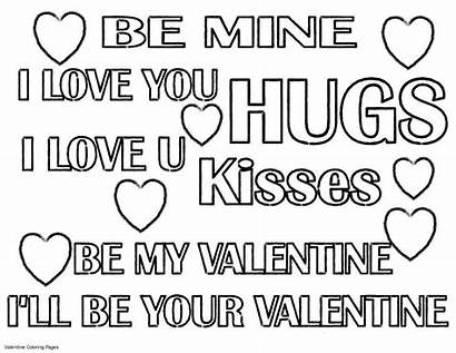 Coloring Pages Quotes Printable Inspirational Valentine Sheets