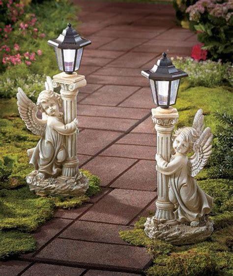 details about solar statue garden lanterns 19 quot high