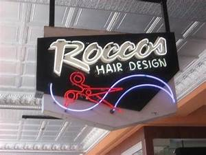 Rocco s Hair Design San Diego CA Neon Signs on