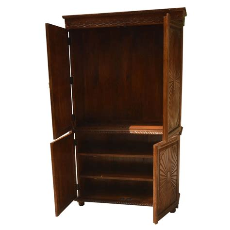 Armoire For Tv With Doors by Large Rustic Solid Wood Tv Media Armoire Cabinet