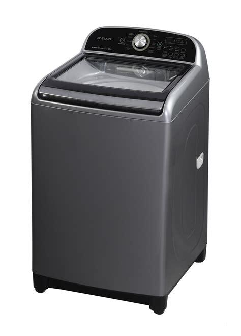 daewoo lavadora con acceso superior y carga de 19 kg silver negro