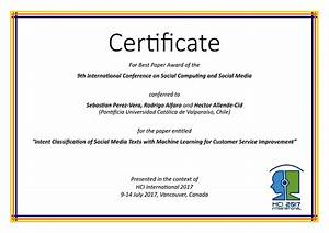 international conference certificate templates - social computing and social media best paper award hci