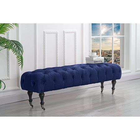 Tufted Bedroom Bench by Classic Tufted Velvet Bedroom Vanity Bench With Casters