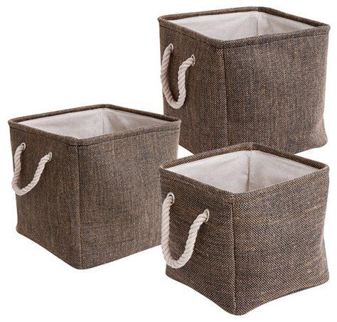 decorating fabric storage bins set of 3 square fabric storage baskets contemporary