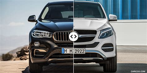 Bmw and mercedes battle to see who can get higher. BMW X6 vs. Mercedes GLE Coupe: Front - Comparison #1