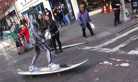 nyc silver surfer    epic halloween costume