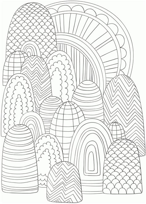 coloring pages abstract designs easy coloring home