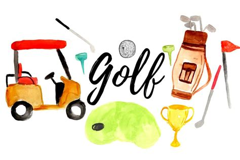 watercolor golf clipart  writelovely thehungryjpegcom
