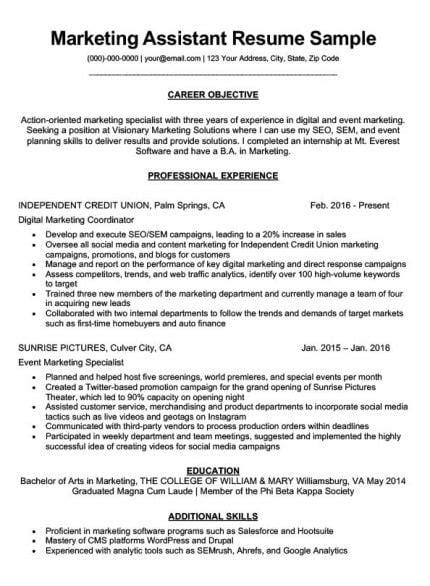Marketing Resume Tips by Marketing Intern Resume Sle Writing Tips Resume