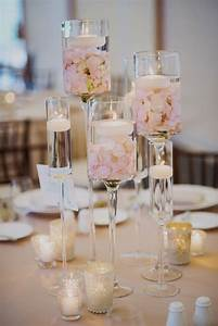 modern, floating, candle, centerpieces