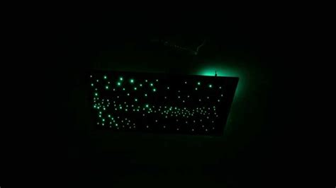 fiber optic star ceiling panel with day time stars