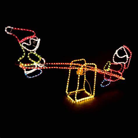 rope light santa santa and clown seesaw rope lights buy at qd stores