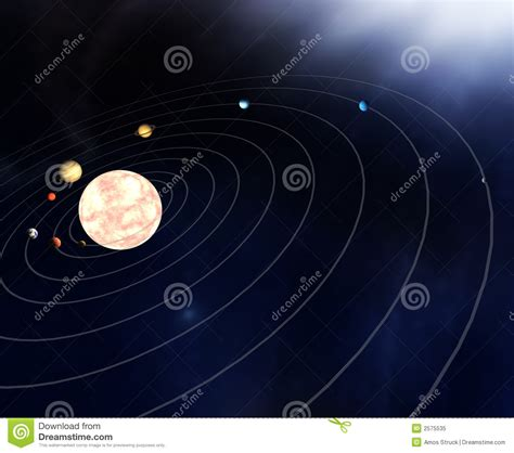 Diagram The Planets Stock Illustration