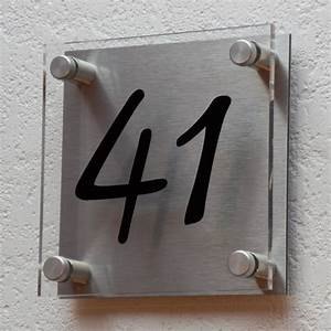Plaque de maison plexiglas doublé d'aluminium Créativ'Sign