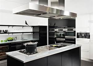 Cuisine Blanc Et Noir : modele cuisine blanc et noir id e de mod le de cuisine ~ Voncanada.com Idées de Décoration