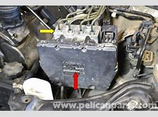MercedesBenz W203 ABS Control Module Replacement 2001