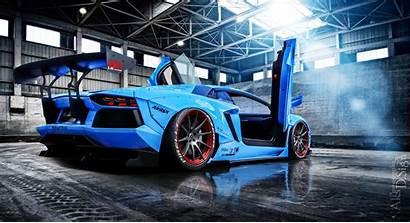 Lamborghini Aventador Liberty Cars Doors Race Aqua