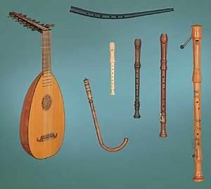 Renaissance Lute, Recorder, Crumhorn, Cornetto