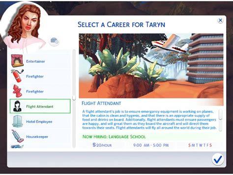 sims  flight attendant career  career levels