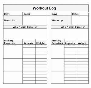 printable workout log printable training workout log free