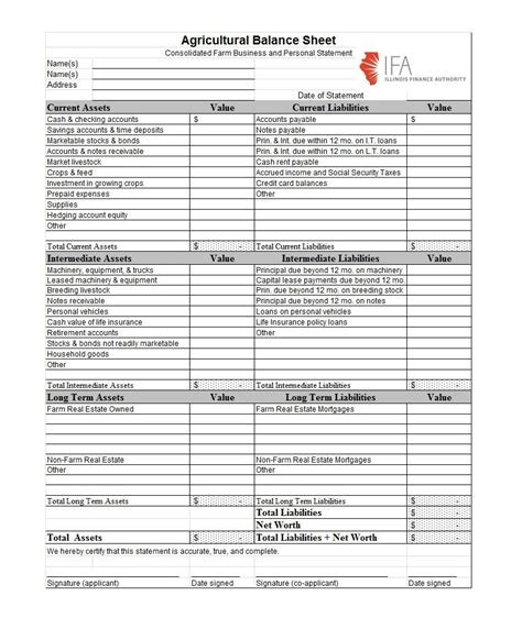 balance sheet templates examples  template